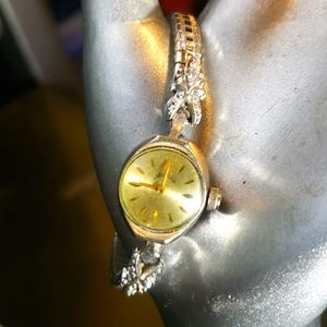 LADY ELGIN solid 14k white gold watch